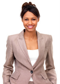 personal assistant, office personnel, secretary, PA, black PA, business wear,
